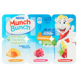 Munch Bunch Apricot, Raspberry and Strawberry Fromage Frais with Fruit Puree 6 x 42g (252g)