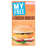 My Free 4 Chicken Burgers 228g