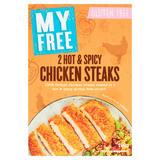 My Free Gluten Free 2 Hot & Spicy Chicken Steaks 190g