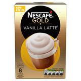 NESCAFÉ GOLD Vanilla Latte Coffee, 8 Sachets x 18.5g