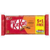 Kit Kat 2 Finger Orange Chocolate Biscuit Bar 5+1 Pack