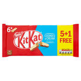 Kit Kat 2 Finger Cookies & Cream Chocolate Biscuit Bar 5+1 Pack