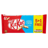 KITKAT 2 Finger Cookies & Cream Chocolate Biscuit, 5+1 Free Pack