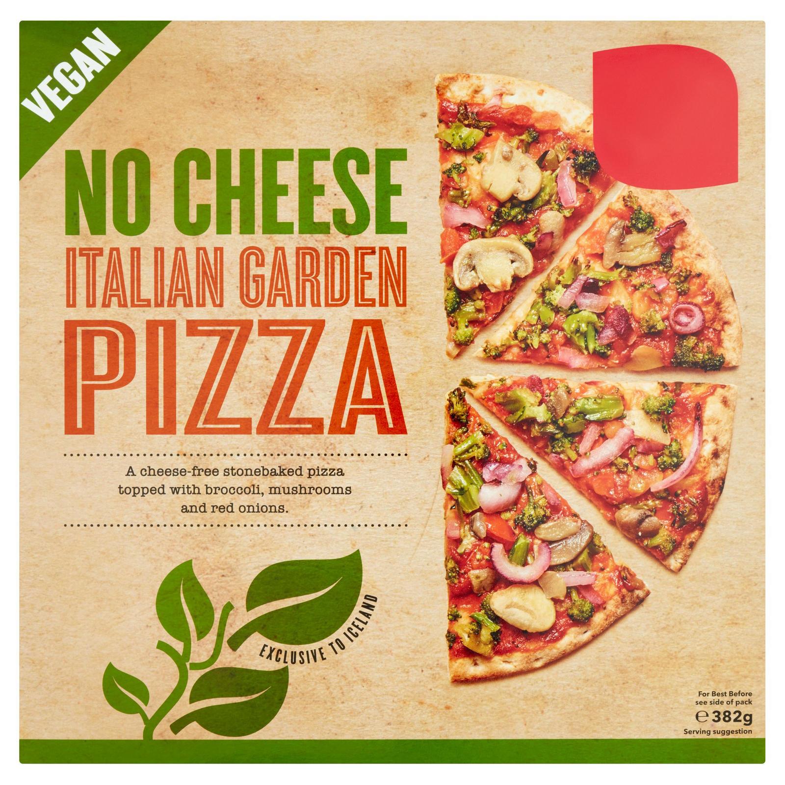 No Cheese Italian Garden Pizza 382g Vegan Iceland Foods