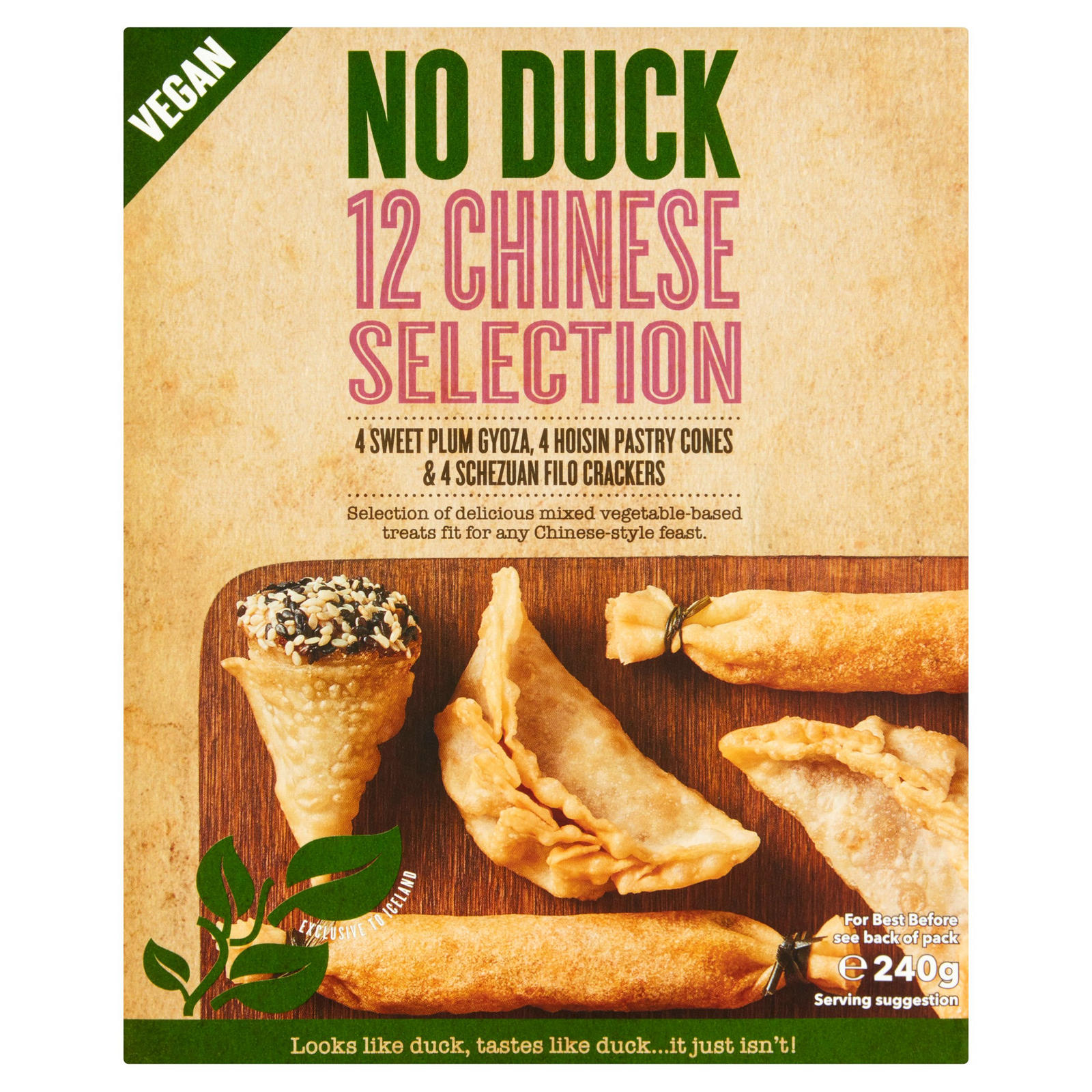 No Duck 12 Chinese Selection 240g Party Food Platters