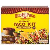 Old El Paso Crunchy Taco Kit Garlic & Paprika 308g