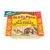 Old El Paso 12 Regular Super Soft Tortillas Flour Big Family Pack 489g