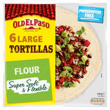 Old El Paso Large Super Soft Flour Tortillas x6 350g