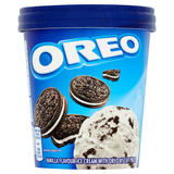 Oreo Vanilla Flavour Ice Cream with Oreo Biscuit Pieces 480ml