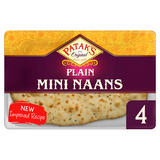 Patak's Plain Mini Naan Breads x 4