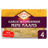 Patak's The Original 4 Garlic & Coriander Mini Naans