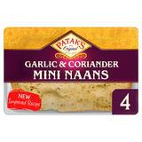 Patak's Garlic & Coriander Mini Naan Breads x 4