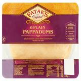 Patak's Plain Pappadums x 6