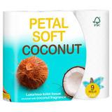 Petal Soft Coconut Luxurious Toilet Tissue 3 Ply 9 Rolls