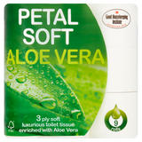 Petal Soft Aloe Vera 3 Ply Soft Luxurious Toilet Tissue 9 Rolls