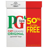 PG tips Original 160 + 50% Free