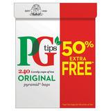 PG tips Original Biodegradable Tea Bags 160 + 50% Free