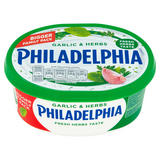 Philadelphia Soft White Cheese with Garlic & Herbs Bigger Family Pack 340g