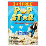 Pop Star Microwave Popcorn Salted 4 x 85g