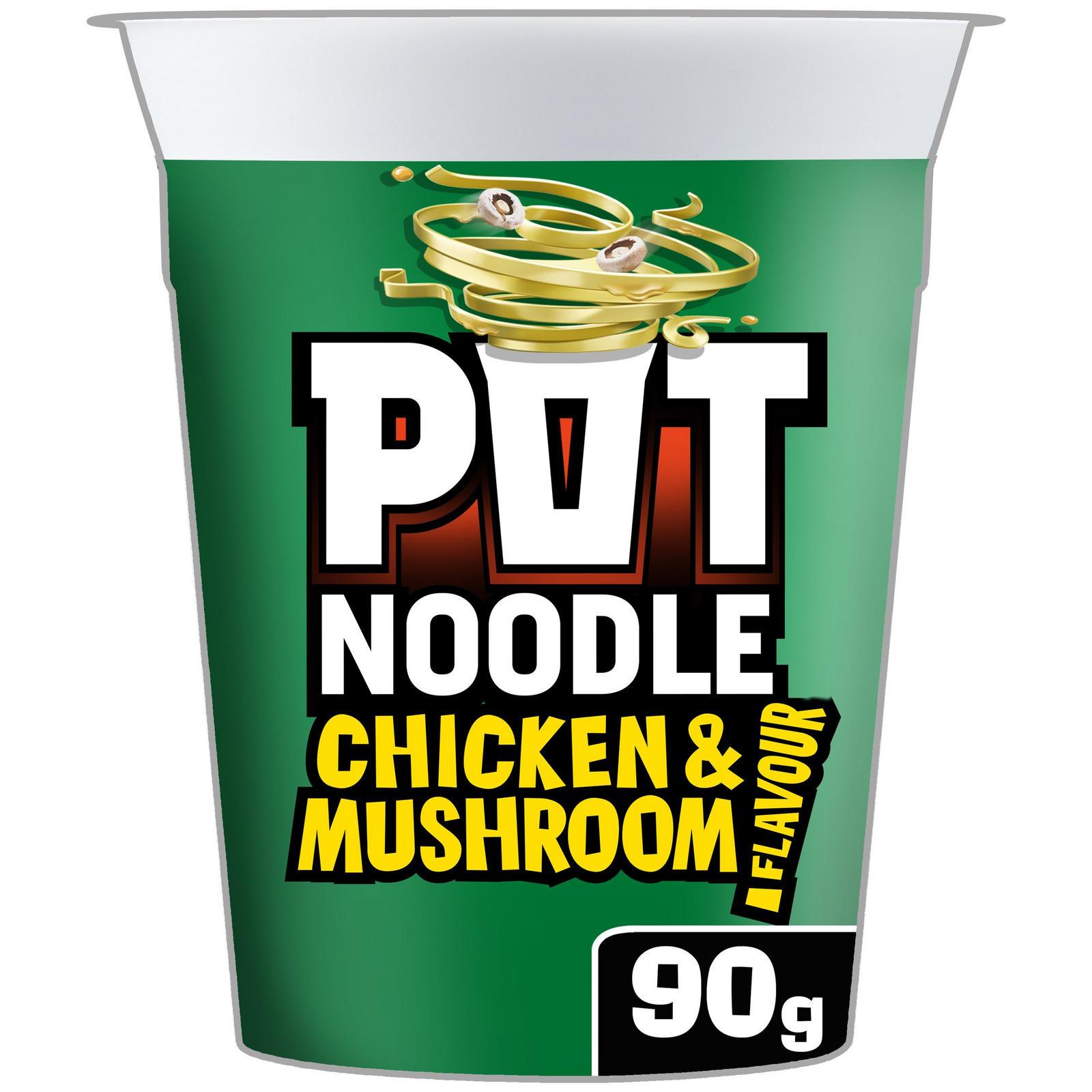 Pot Noodle Chicken & Mushroom Standard 90g | Noodles