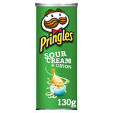 Pringles Sour Cream & Onion Crisps, 130g
