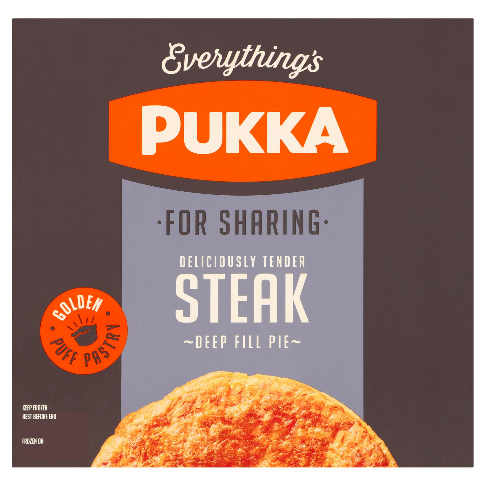 Pukka Steak Frozen Sharing Pie | Pies & Puddings | Iceland ...