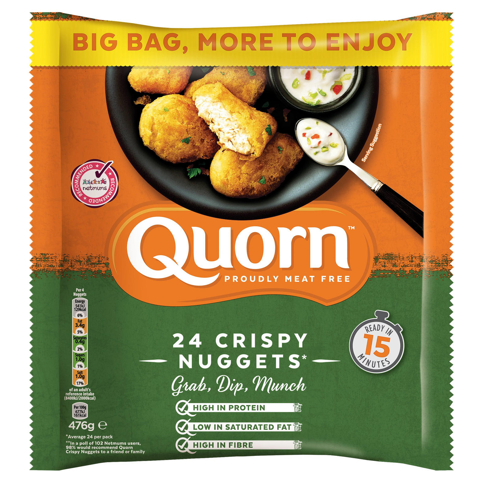 Nuggets Of Information: Quorn 24 Crispy Nuggets 476g