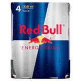 Red Bull Energy Drink, 4 x 250ml