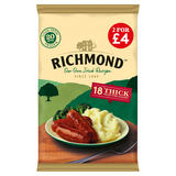 Richmond 18 Thick Frozen Pork Sausages 817g