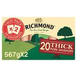 Richmond 20 Thick Pork Sausages 2 x 567g