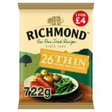 Richmond 26 Thin Frozen Pork Sausages 722g