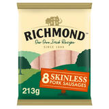 Richmond 8 Skinless Pork Sausages 213g