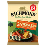 Richmond 26 Skinless Frozen Pork Sausages 690g