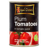 Royal Crown Plum Tomatoes in Tomato Juice 400g