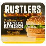 Rustlers Southern Fried Chicken Burger with Our Lightly Peppered Mayo 145g