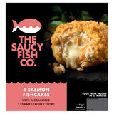 The Saucy Fish Co 4 Salmon Fishcakes with a Cracking Creamy Lemon Centre 440g