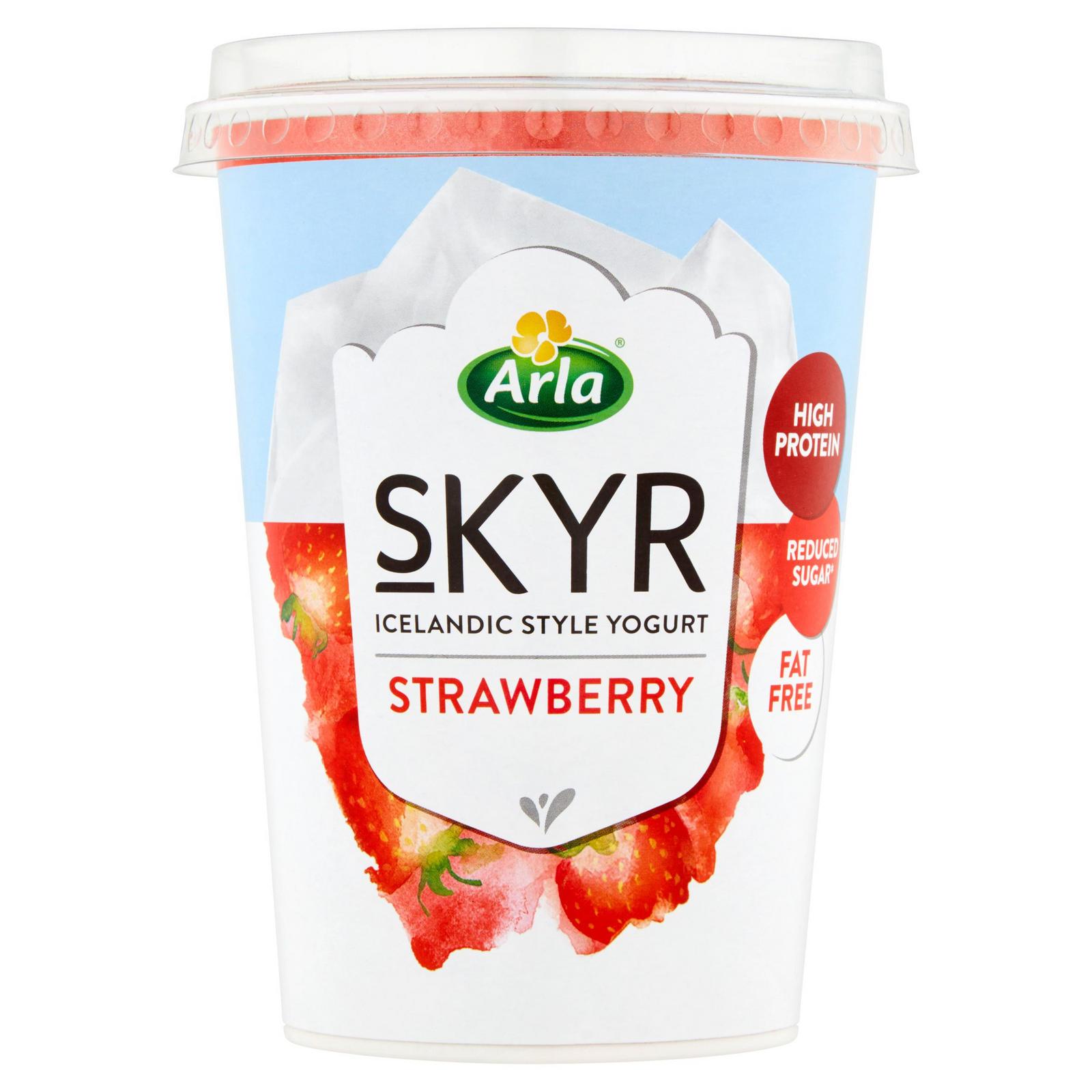 Arla Skyr Icelandic Style Strawberry Yogurt 450g | Low Fat ...