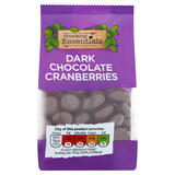 Snacking Essentials Dark Chocolate Cranberries 150g