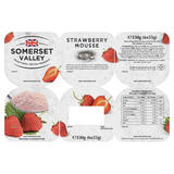 Somerset Valley Strawberry Mousse 6 x 55g (330g)