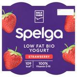 Dale Farm Spelga Low Fat Strawberry Yogurt 4 x 125g