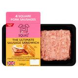 Squig 4 Square Pork Sausages 340g