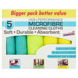 Sta-Brite Microfibre Cleaning Cloths 5 Pack