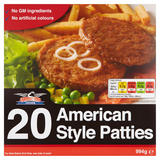 Stateside Diner 20 American Style Patties 994g