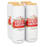Stella Artois Premium Lager Beer Cans 4 x 568ml