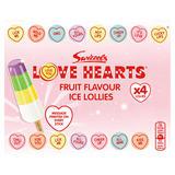 Swizzels Love Hearts Fruit Flavour Ice Lollies 4 x 65ml (260ml)