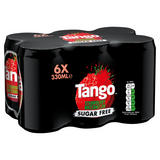 Tango Sugar Free Strawberry & Watermelon Cans 6 x 330ml