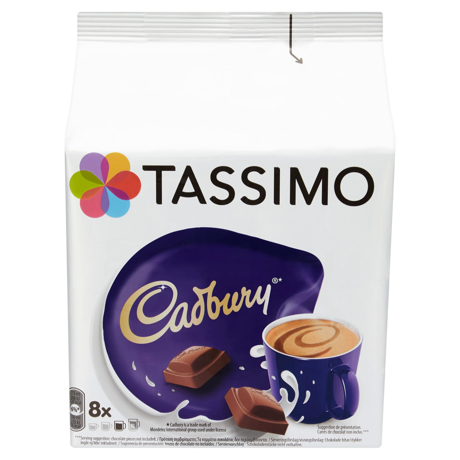 Tassimo Cadbury Hot Chocolate Pods X8 Hot Chocolate
