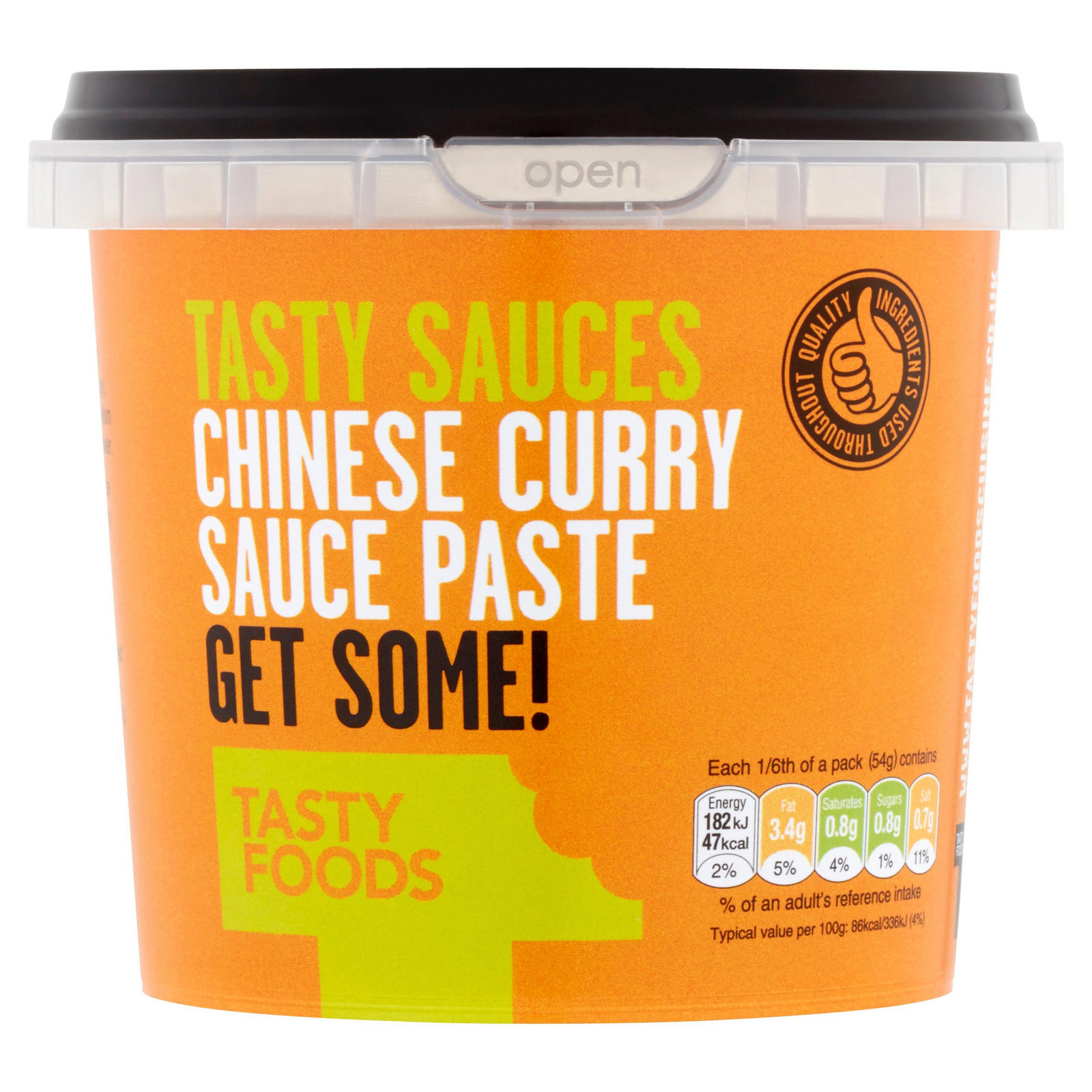 Tasty Foods Tasty Sauces Chinese Curry Sauce Paste 325g
