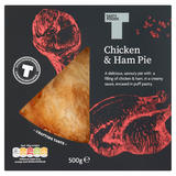 Tasty Foods Chicken & Ham Pie 500g
