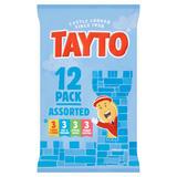 Tayto Assorted Flavour Potato Crisps 12 x 25g